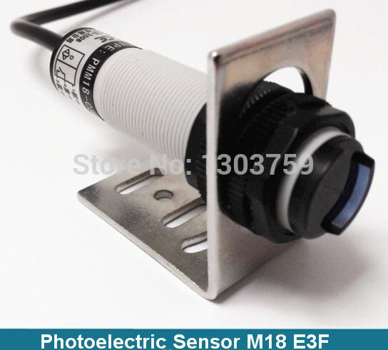 free shipping 10-30vdc NPN NO 5cm distance diffuse type  Photoelectric Sensor Switch  (E18-3A05NA)