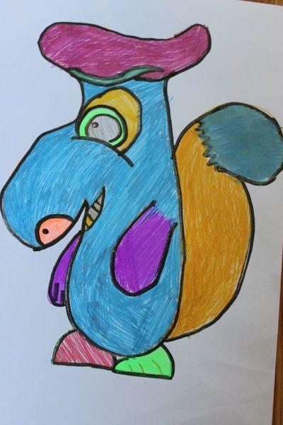 Wielki Nochal to już rysunek 8 letniej Julki