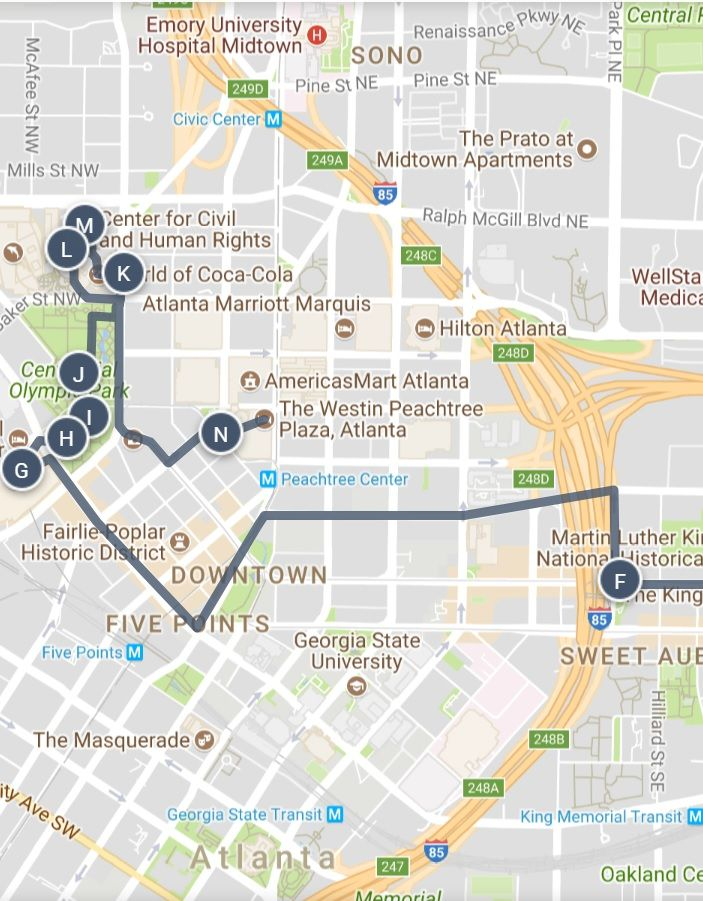 Americasmart Atlanta Map.One Day In Historic Atlanta Georgia Exploring America S Most