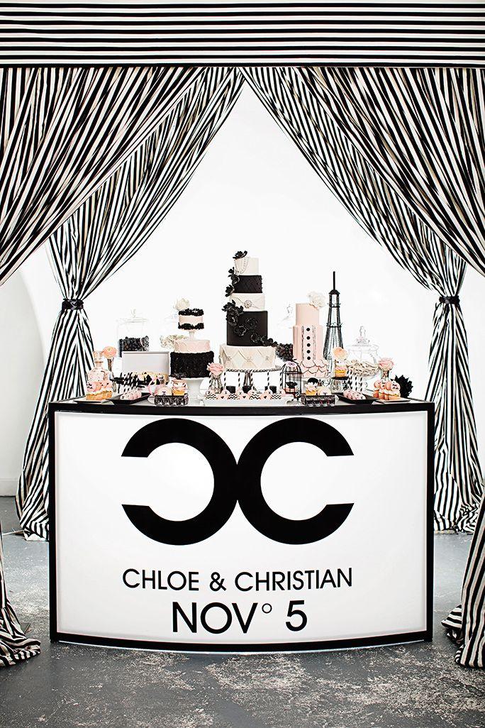 Coco Chanel Theme / Luxure Weddings / http://blog.revo.net.pl