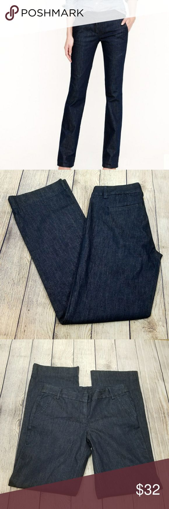 NWT Tall trouser jean rinse wash  8 New with tags. Please see pictures for measurement. Pet free and smoke free home. J. Crew Jeans