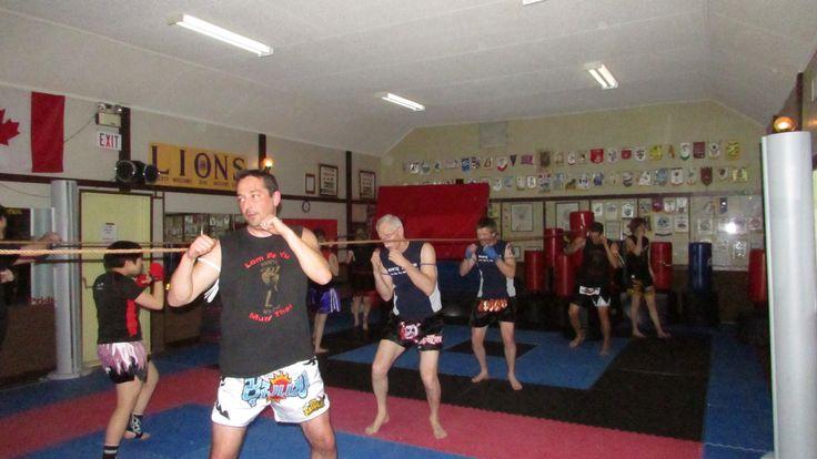 A Muay Thai Kickboxing drill.