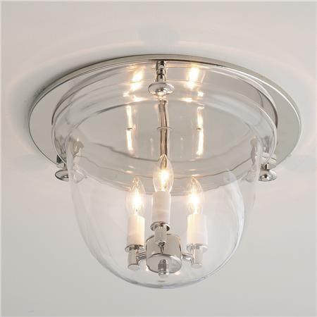 Flush ceiling bell lantern