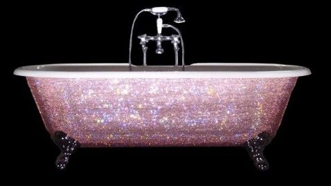 Sparkly bathtub. Yes.