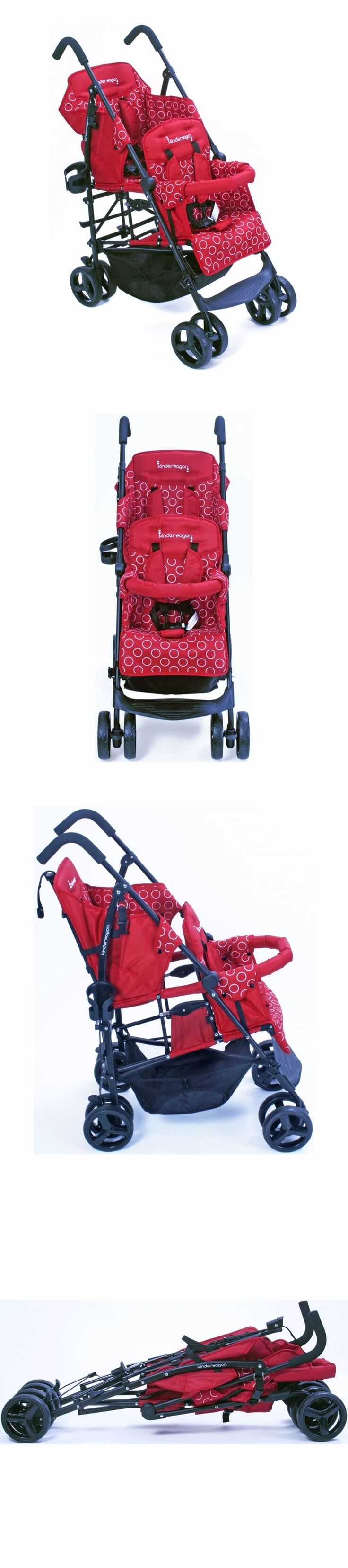 Other Baby Gear 100224: Kinderwagon Hop Tandem Double Umbrella Stroller In Red Brand New!! Open Box!!! -> BUY IT NOW ONLY: $259 on eBay!
