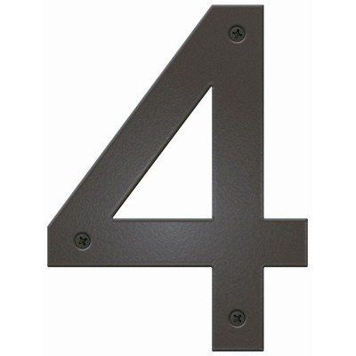 "Contemporary House Number Letter: 4, Color: White by Blink Manufacturing. $23.99. BHN-4-WT Letter: 4, Color: White Features: -UV protected against fading.-Maintenance free.-Highly visible 5"" H.-Made in the USA. Includes: -Includes 0.5"" standoffs for dimensional look. Construction: -Constructed of 16 gauge galvanized steel; will not rust. Warranty: -One year manufacturers warranty."