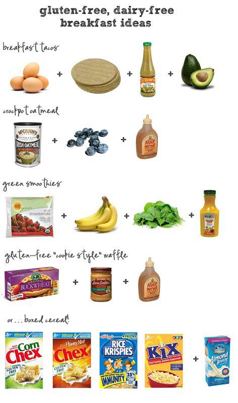 family friendly gluten-free dairy-free GFDF breakfast options