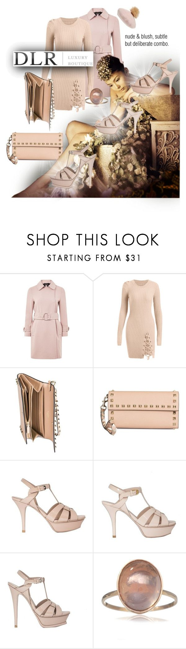 """""""tribute DLRBOUTIQUE"""" by caroline-buster-brown ❤ liked on Polyvore featuring Topshop, Valentino, Yves Saint Laurent and NYC Underground"""