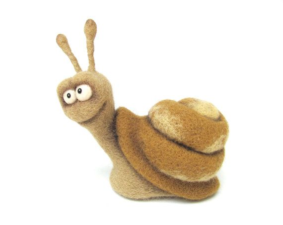 Hey, I found this really awesome Etsy listing at http://www.etsy.com/listing/153502282/needle-felted-toy-funny-snail-felt-toys