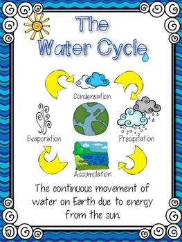 This freebie pack includes... Water Cycle Poster Water Cycle Song (to the tune of Old McDonald) - color and B&W Water Cycle Cut & Paste Diagram Thanks for downloading this freebie! The complete pack includes over 80 pages of projects, vocabulary word work, word wall cards, reader's theater, handouts, folded flip books, and an investigation to use to teach the water