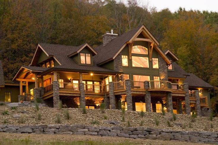 HGTV takes you on a tour of a gorgeous timber-frame home perched on more than 100 hilltop acres.