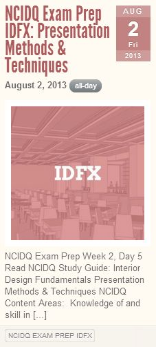 NCIDQ Exam Prep IDFX Focus On Presentation Skills
