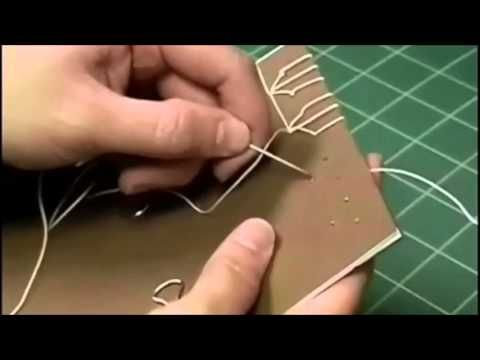 ▶ Japanese Stab Binding Tortoise Stitch - YouTube