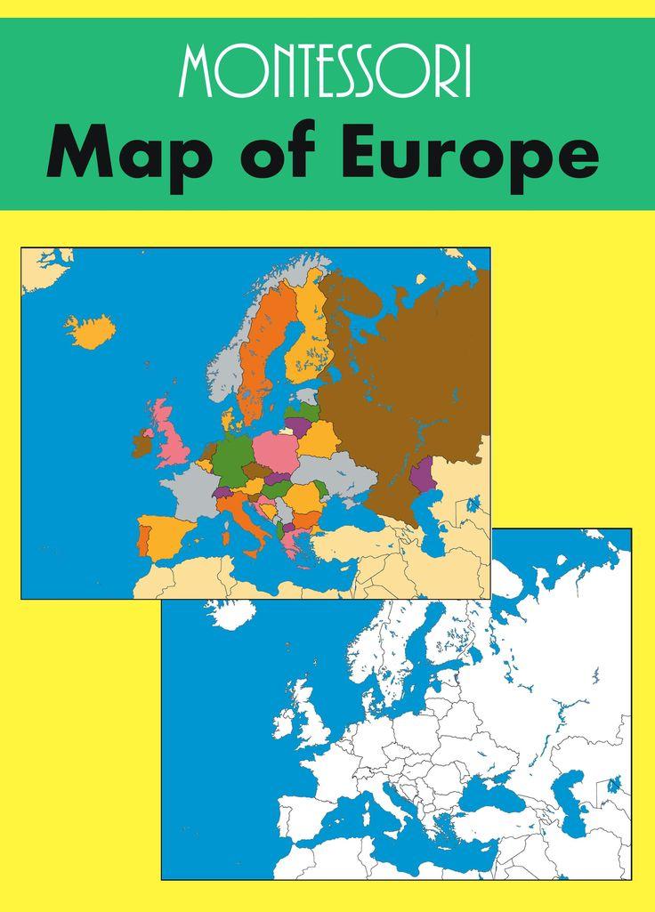 Montessori Europe Map