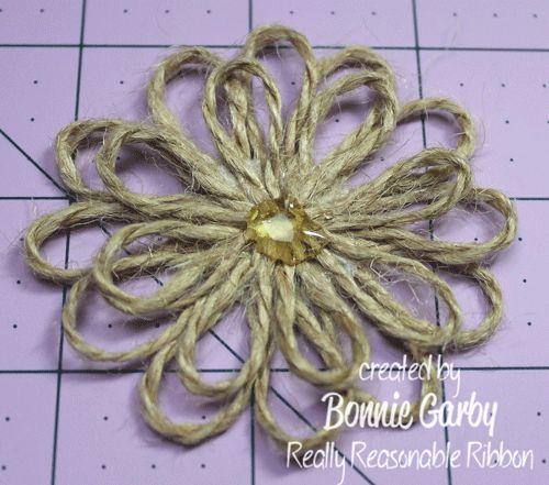 CUTE SIMPLE TO APPLY TO THINGS Really Reasonable Ribbons Ramblings!: Jute Loopy Flower Tutorial