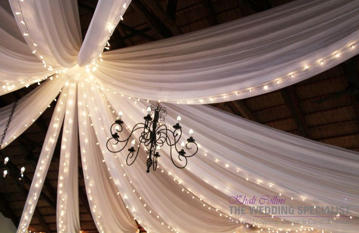 Roof Draping done at Toadbury Hall www.theweddingspecialist.co.za