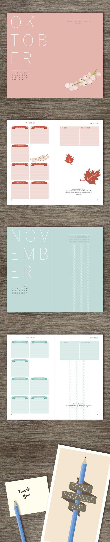 School Calendar by Marcin Glod, via Behance