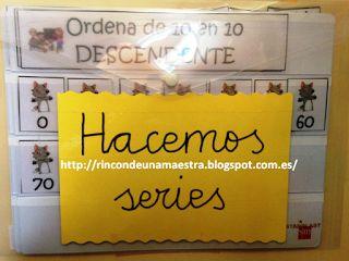 Rincón de una maestra: Matemáticas divertidas: Hacemos series