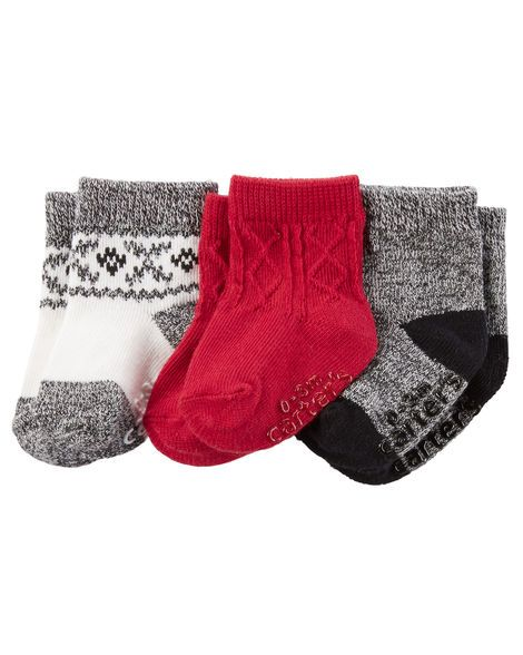 Baby Accessories Baby Boy 3-Pack Booties from Carters.com. Shop clothing & accessories from a…