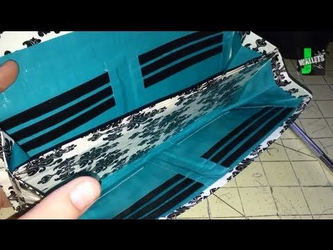 How to Make a Duck Duct Tape Accordion Style Clutch Wallet!