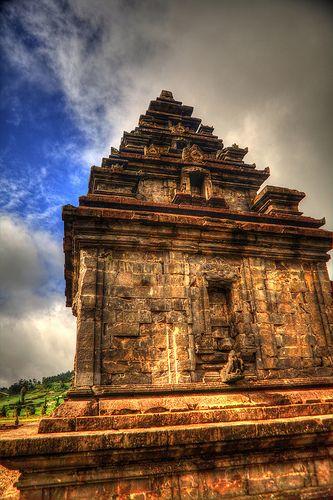 Indonesia - Java - Dieng Plateau.Visiting a temple comlex on the Dieng Plateau. Marvellous!