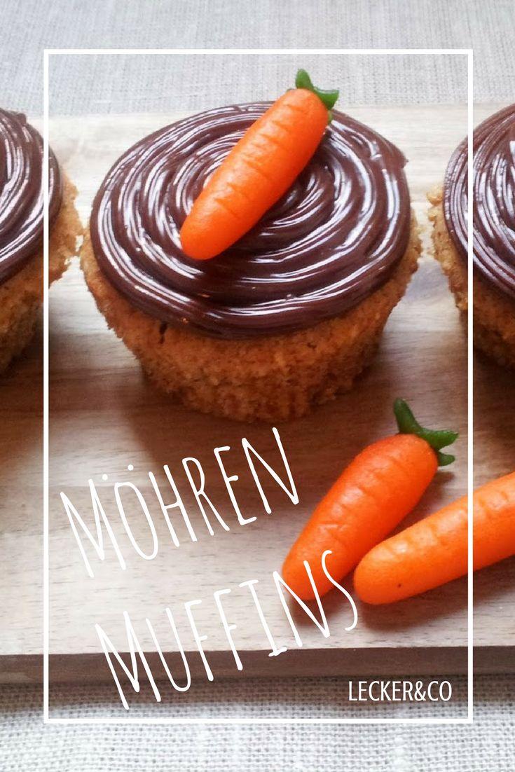 Möhren-Muffins mit Marzipan-Karotten