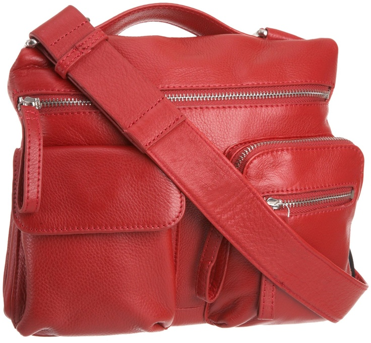 Cross Over Body Bag red and leather dosent look to bad... love it :)