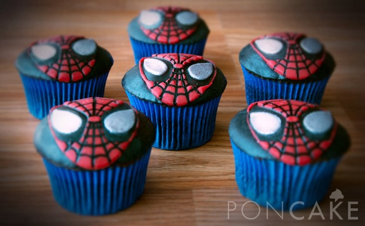 Spiderman Cupcakes Cupcakes De Hombre Ara 241 A Famous