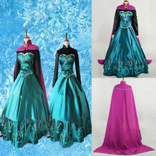 NEW Princess Prom Cosplay Party Fancy Dress Outfit Costume Adult Girl Gown Costume Kits