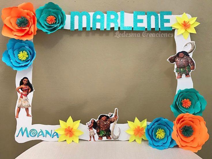 "24 Likes, 2 Comments - Decorations for any event (@ledesmacreaciones) on Instagram: ""Moana theme photo frame I made for a client  | Marco para fotos de Moana que hice para mi cliente…"""