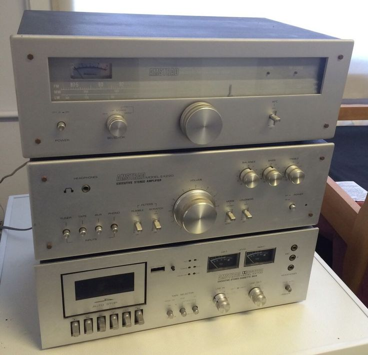 Vintage Amstrad HiFi Stereo Amplifier EX220 , Tuner EX202 , Cassette Deck EX700 in Sound & Vision, Home Audio & HiFi Separates, Amplifiers & Pre-Amps | eBay