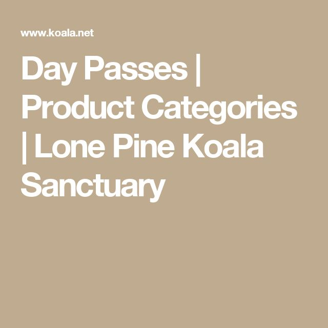 Day Passes | Product Categories | Lone Pine Koala Sanctuary
