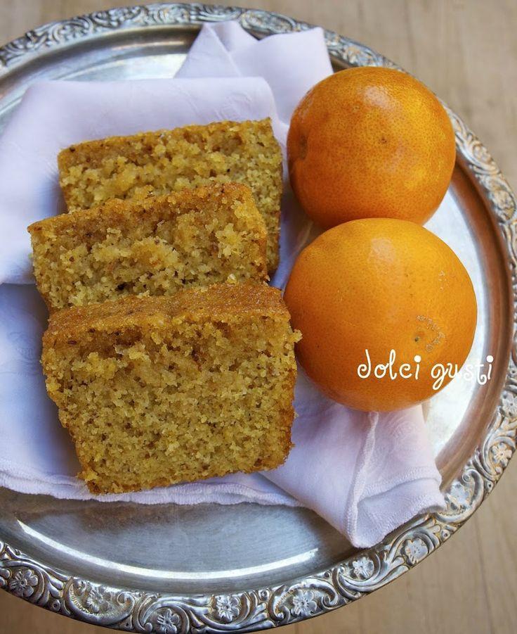 Cake cocco e arancia con semolino