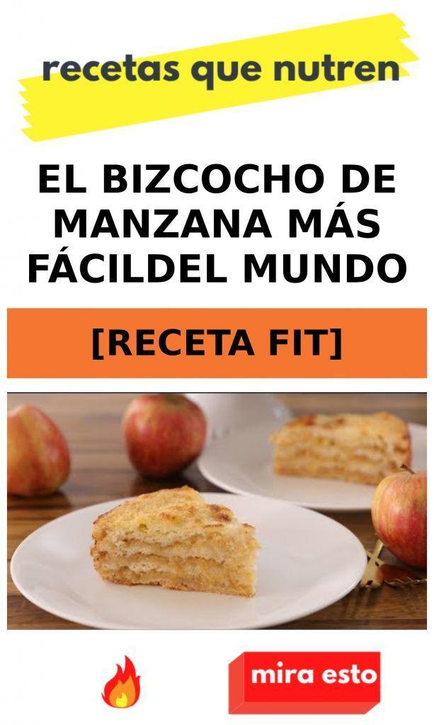 El bizcocho de manzana más fácil del mundo [RECETA FIT] Yerba Mate, Baked Potato, Potatoes, Beef, Healthy Recipes, Cata, Vegan, Baking, Ideas Para