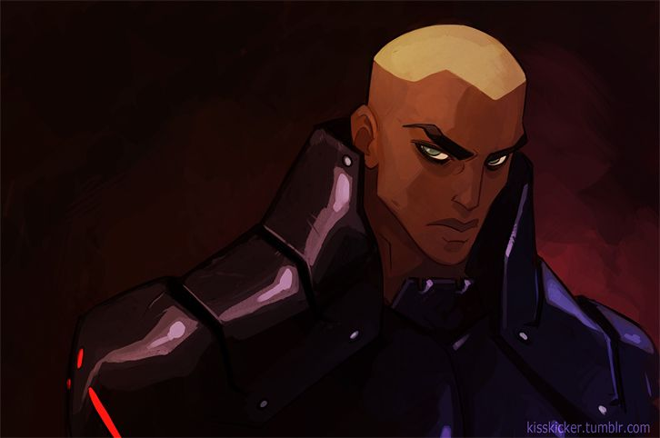 Aqualad (Kaldur'ahm) from Young Justice in his cool Black Manta outfit. Art by Hellcorpceo on Deviantart