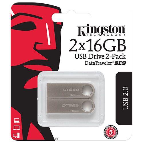 Stockez, transférez et partagez vos fichiers multimédias avec ce paquet contenant 2 clés USB DataTraveler SE9 de Kingston. Grâce à leur boîtier à la fois robuste et branché en métal et leur grand anneau, leur capacité de 16 Go et ... Obtenez la livraison gratuite sur les commandes de plus de 25 $.