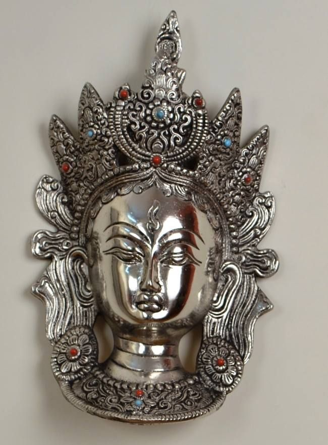 #Humble home opulent & majestic with our exclusive home n #decor items!10 inch white metal with semi precious stone work @ http://goo.gl/G7FC1h