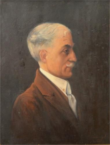 Ion Tuculescu (Romanian: 1910-1962) | Portrait of Prof. Ion Ciolac