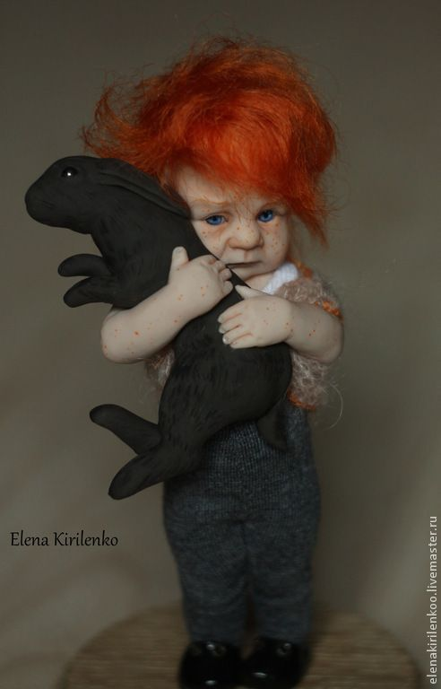 Купить Василий - рыжий, мальчик, living doll, хлопок, мохер