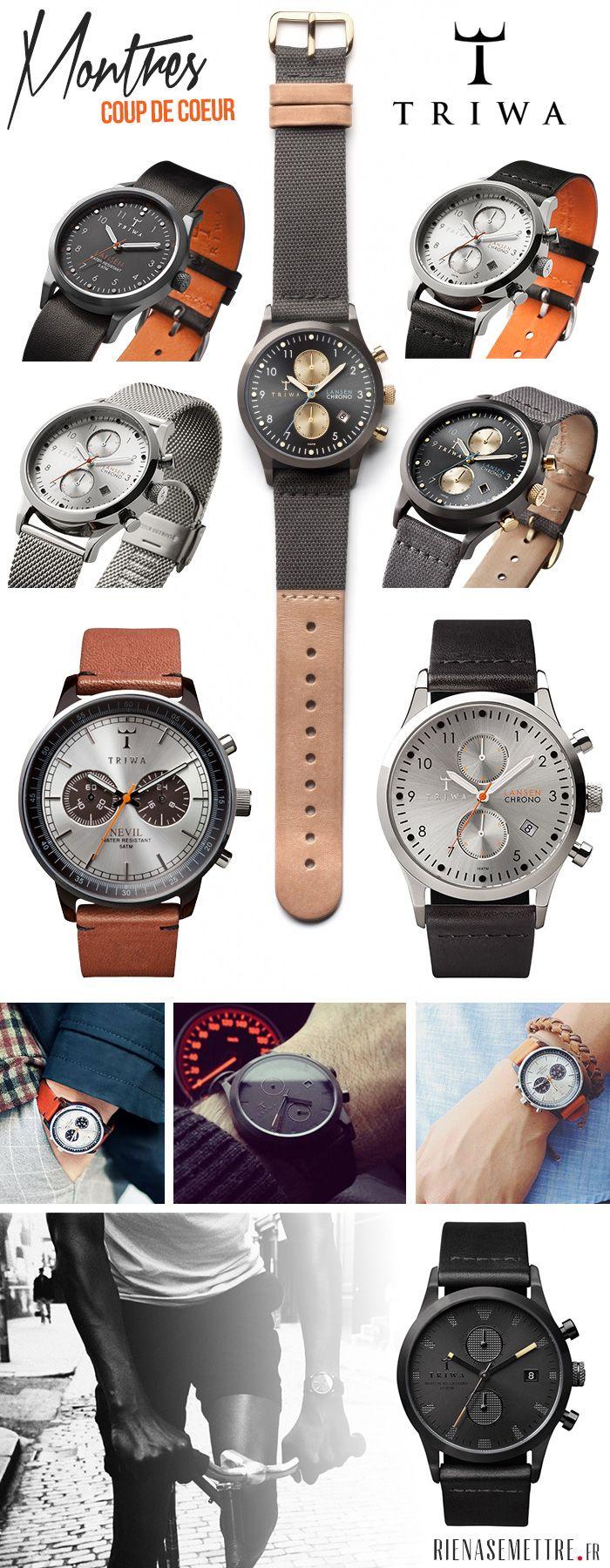 Montres Coup de Coeur : Les montres TRIWA pour Homme sont élégantes et ont beacoup de style. Découvrez nos montres préférées !