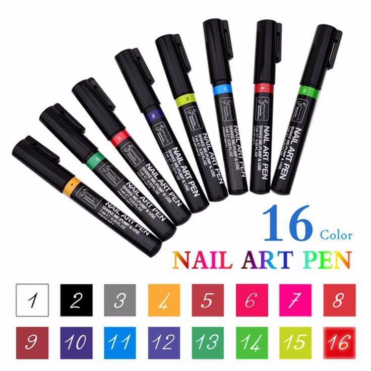 Professional Portable Size DIY 3D Nail Polishing Stamping Nail Art Pen 7ML Painting Pen Set For UV Gel Nail Tool