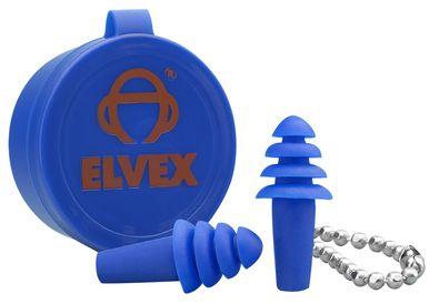 Elvex Quattro Uncorded Earplugs with Case NRR-25 (50-Pr Box)