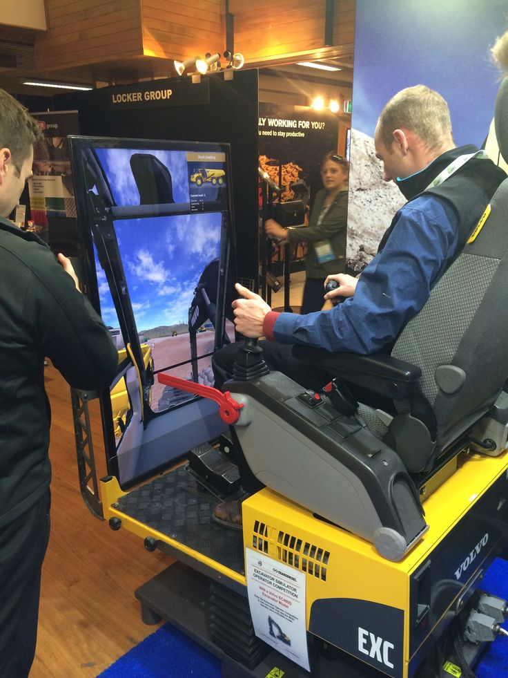 @Transdiesel Excavator simulator at QuarryNZ2014- from the @volvogroup