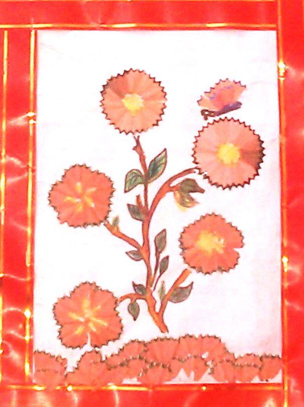 480 Cara Membuat Kolase Bunga Dari Rautan Pensil Gratis Terbaru Kolase Seni Kolase Lukisan Bunga