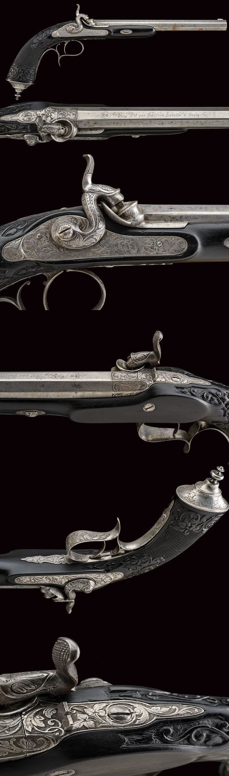 A fine percussion pistol by Gastinne Renette,dating: mid-19th Century provenance: Paris.