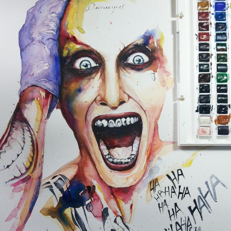Joker - Watercolor_Aquarela_jmb