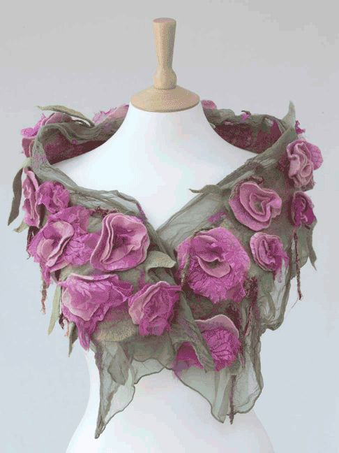 Luxury hand crafted nuno felt scarves and wraps - felt workshops - Gallery