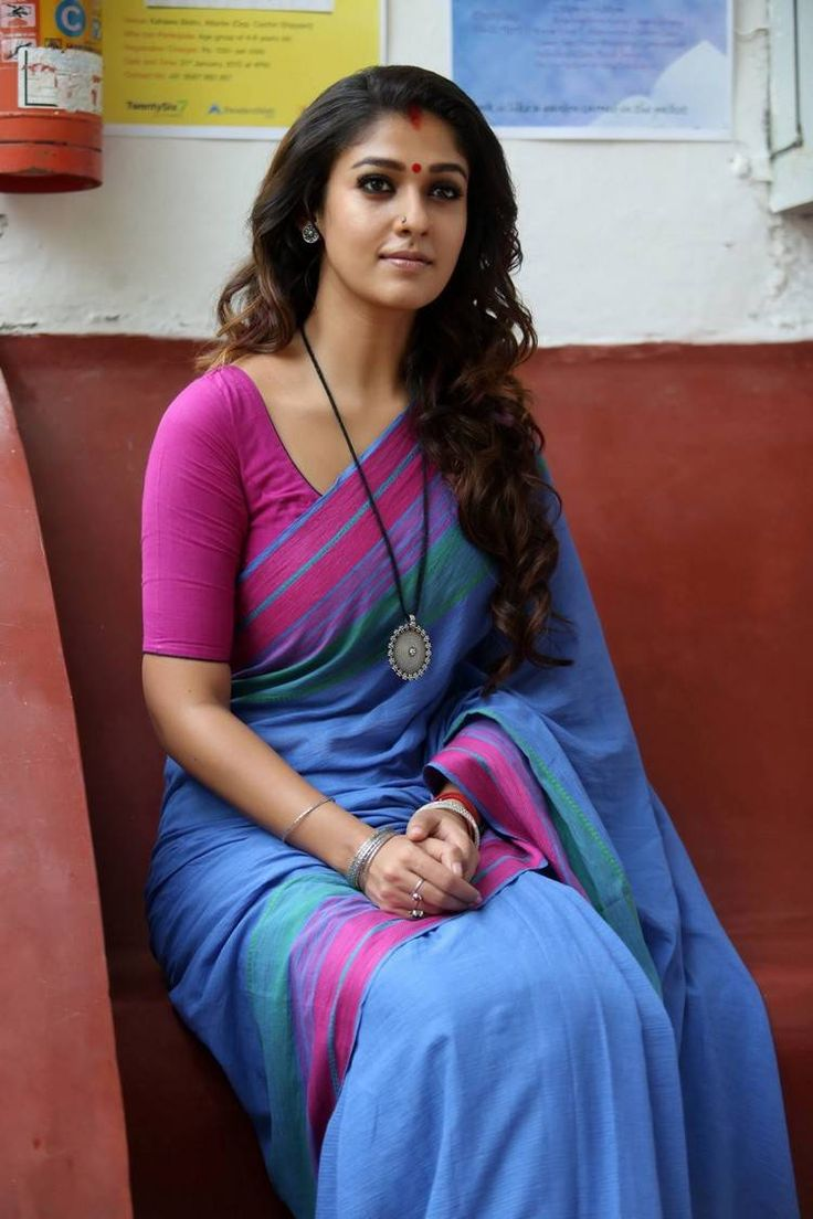 Nayantara Saree Photos Gallery Collection