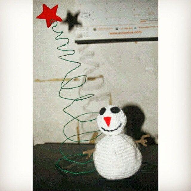 Snow man crochet