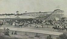 Robson's Figure Eight in 1908 on Lower Esplanade,St Kilda in Victoria was part of Dreamland, the current site of Luna Park and the Palais Theatre but just one of many carnival attractions along the foreshore at the turn of the century.